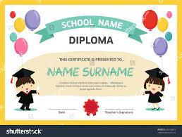 Template Preschool Graduation Certificate Template Kindergarten