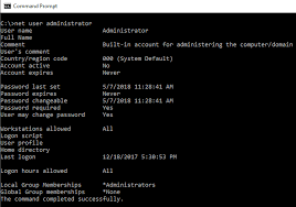 Windows Net Worth Determining When A Local Windows Account Password Was Last