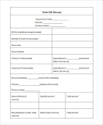 Personal Invoice Template Word New Lodge Bill Format In Word Hotel Receipt Template 48 Free Word