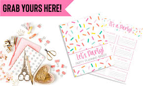 Free Printable Party Planner Organization Obsesssed