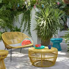 yellow outdoor furniture. Along With The Comfortable Salsa Garden Chairs There\u0027s Also A 2-seater Outdoor Sofa Plus Side Table And Larger Low Coffee Table. Yellow Furniture