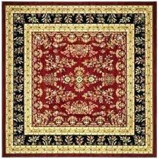 6x6 square rug red 6 x jute