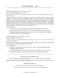 Resume Example - Executive or CEO | CareerPerfect.com