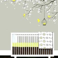 wall decal tree branches nursery room wall stickers baby nursery decal birdcage flying birds decals cherry wall decal