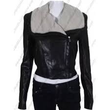 women black fitted leather jacket