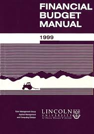 financial budget manual 1999
