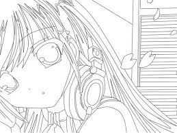Anime Girls Coloring Pages Girl To Print 1048786 Attachment
