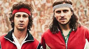 borg mcenroe movie review shia labeouf redeems himself in a song  shia labeouf and sverrir gudnason as john mcenroe and bjork borg