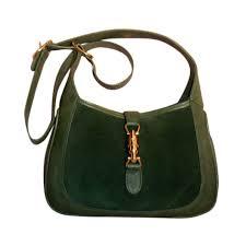 gucci vintage. gucci vintage green suede shoulder bag, circa 1970 1 g