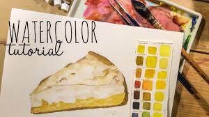 food ilration lemon meringue pie painting tutorial how to use watercolor you