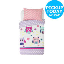details about argos home owls bedding set toddler single