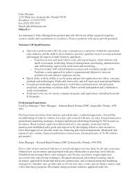 Sales Manager Resume Objective Examples Sales Manager Resume