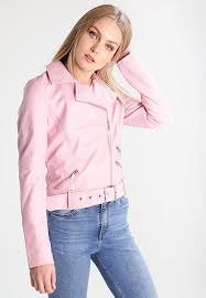 new look tall faux leather jacket pink women clothing jackets
