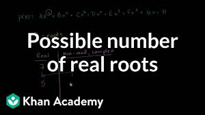 possible number of real roots polynomial