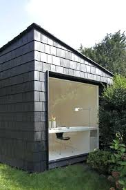 Small Picture Office Design Small Garden Office Ideas Black Shingled Facade Of