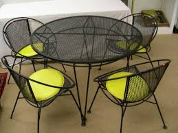 black wrought iron furniture. Captivating Black Wrought Iron Table And Chairs With Vintage Rod Patio Furniture O