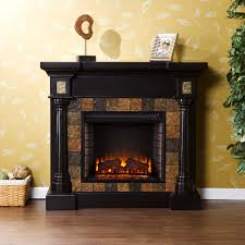 carrington wall or corner electric fireplace mantel package in black fe8752
