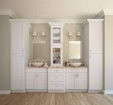 Aspen White Shaker Ready To Assemble Bathroom Vanities Cabinets