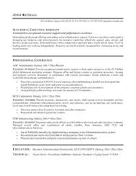 Best Executive Resume Samples Resume Examples For Administrative