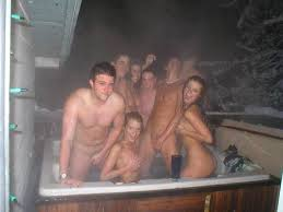 Naked college hot tub parties