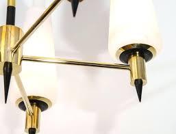 brass chandelier with glass shades modern brass chandelier with conical shades in frosted glass antique brass
