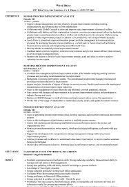 Process Improvement Resume Examples Process Improvement Analyst Resume Samples Velvet Jobs 5