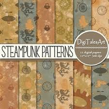 Steampunk Patterns Magnificent STEAMPUNK PATTERNS Digital Scrapbooking Background Papers Etsy