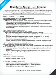 Nursing Resume Examples Resume Example For Students Nursing Student