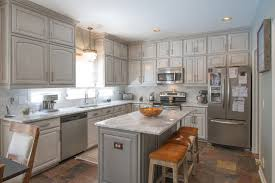 Gray painted kitchen cabinets transitional-kitchen