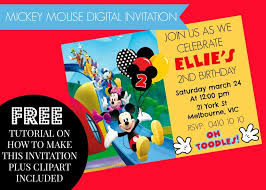 Mickey Mouse Clubhouse 2nd Birthday Invitations Mickey Mouse Clubhouse Birthday Invitation