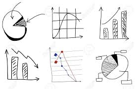 Doodle Charts By Hand On White Background