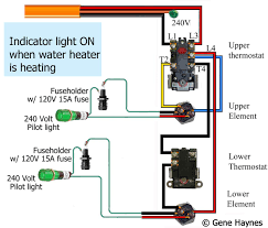 how to wire water heater pilot light 240 volt switch double pole at 240 Volt Light Wiring Diagram