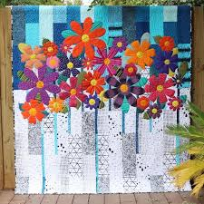 Patterns :: Quilt Patterns :: Indah Blossoms Quilt Pattern by Carolyn Murfitt of Free Bird Quilting
