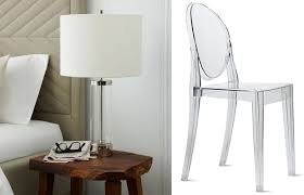 west elm acrylic column table lamp 169 philippe starck for kartell ghost chair