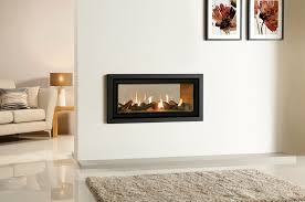 Image Two Sided Gazco Studio Duplex Gas Fire With Vermiculite Lining And Profil Frame In Anthracite Stovax Studio Duplex Doublesided Gas Fires