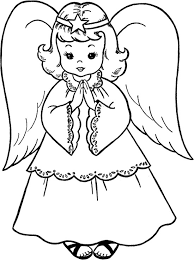 Small Picture Sweet Christmas Angel Coloring Page coloring pages Pinterest