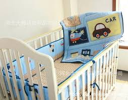 train crib sheet car boy baby cot crib bedding sets quilt per fitted sheet blanket cover
