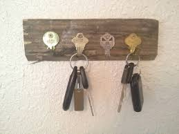 DIY Key Holder Using Old Keys