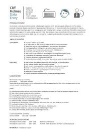 Data Entry Resume New Data Entry Resume Templates Clerk CV Jobs From Home Keyboard