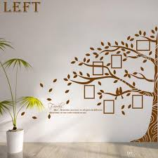 large vinyl family tree photo frames wall decal sticker vine branch removable wall decor wall art stickers tree wall stickers home decor wall sticker