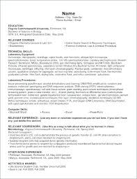 15 Laboratory Skills Resume Proposal Letter