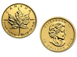 1 4 Oz Canadian Maple Leaf Gold Coin