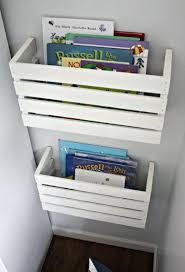 minimalist kids bookshelves with wooden furnitures