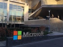 microsoft office headquarters. microsoft windows 10 event building at headquarters office