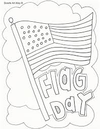Small Picture Flag Day Coloring Pages Doodle Art Alley