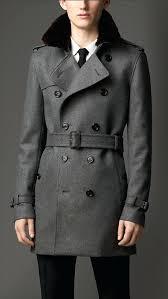 fur collar coat mid length fur collar cashmere trench coat fur collar coat mens uk