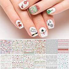 Diy Nail Designs Adoreu 1000 Patterns Christmas Nail Art Decals Xmas 3d Nail Self Adhesive Stickers Santa Claus Reindeer Snowflakes Snowmen Christmas Bells For Women