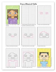 Guided math resources a year of math centers! How To Draw A Minecraft Selfie Art Projects For Kids