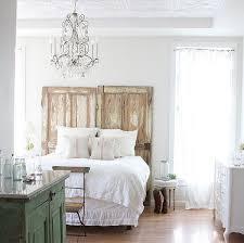 repurposing old doors as bed headboard
