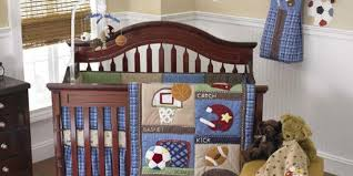 sports theme crib bedding